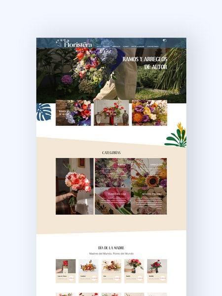 portada portafolio la floristera kom agencia digital peru