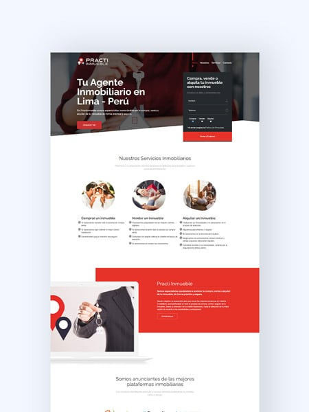 portada portafolio practi inmueble kom agencia digital peru
