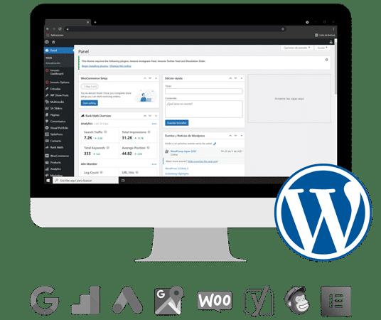 tu pagina web en wordpress kom agencia digital peru 2