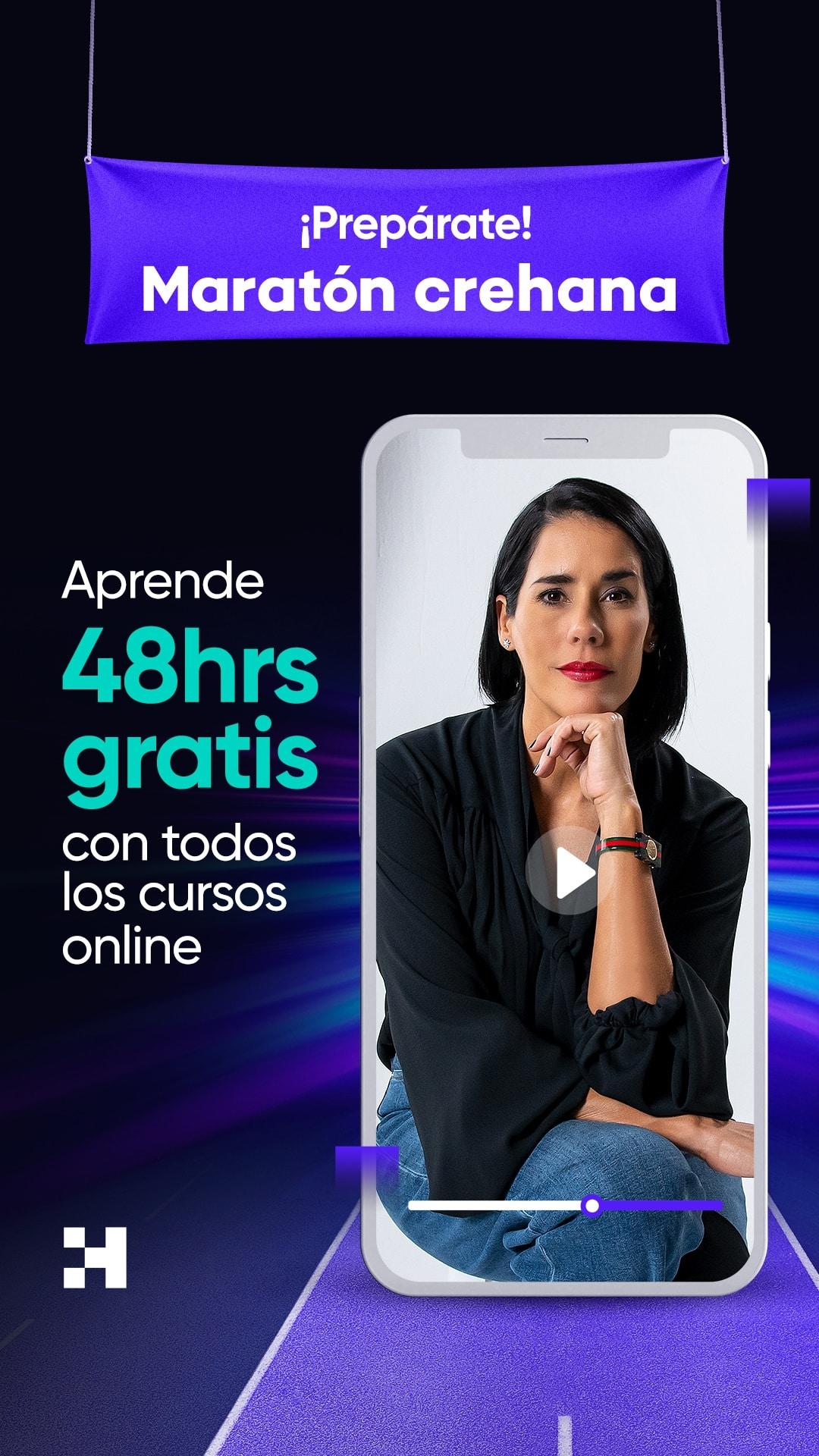 Maratón Crehana   Más de 700 Cursos totalmente gratis + constancia de participación – crehana.com   creana